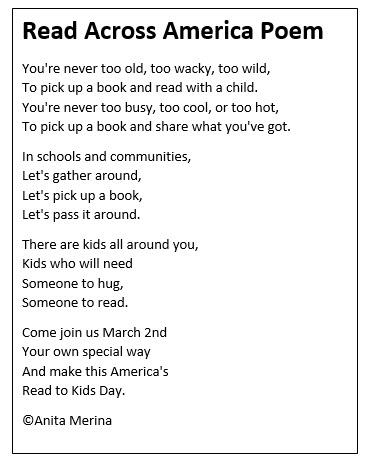 Read Across Poem