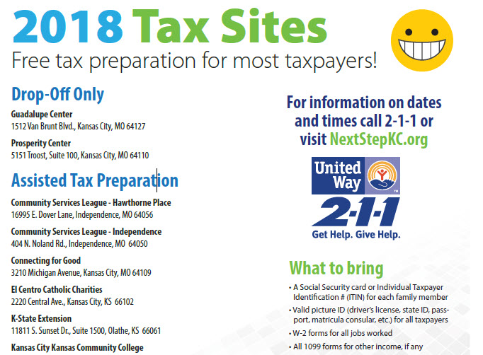 Help Available For Tax Preparation Swope Health Services
