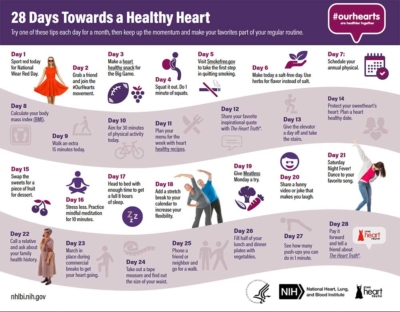 28 days to a Healthy Heart