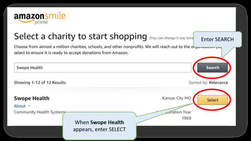 Swope Health: AmazonSmile Step 2
