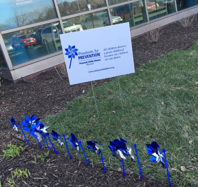 National Child Abuse Prevention: Blue Pinwheels