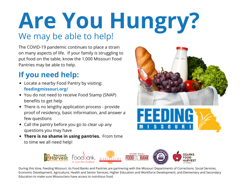 information on finding a food pantry